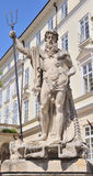 Estátua Neptun Data do ano da criação 1800-1900 Lvov, Ucrânia Imagem de Stock