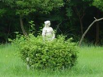 Estátua no arbusto imagens de stock
