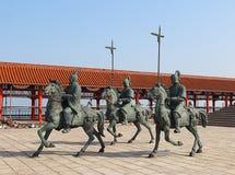 Estátua no beira-mar de ChengShanTou Fotografia de Stock