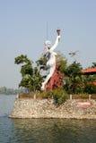 Estátua no jardim de uma casa perto de Kollam Imagem de Stock