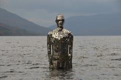 A estátua no Loch ganha Imagem de Stock Royalty Free