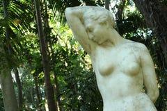 Estátua no meio da floresta Imagem de Stock Royalty Free