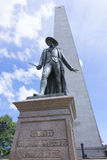 Estátua no monte de depósito em Boston Imagem de Stock Royalty Free