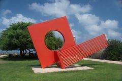 Estátua no parque da independência, Tel Aviv Fotografia de Stock Royalty Free