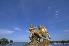 Estátua no parque de Schwerin Fotografia de Stock Royalty Free