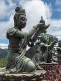 Estátua no Po Lin Monastery, Hong Kong imagens de stock