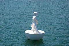 Estátua no porto de Barcelona Foto de Stock Royalty Free