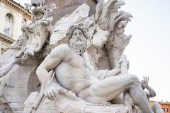 Estátua no quadrado Borromini de Navona foto de stock royalty free