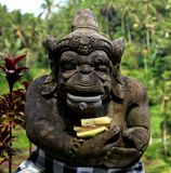 Estátua no tegallalang Bali fotos de stock royalty free