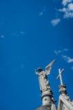 Estátua no telhado Imagem de Stock