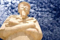 Estátua no templo da rainha Hatshepsut imagens de stock royalty free