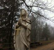 Estátua pequena do madonna em Ucka Imagens de Stock