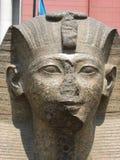 Estátua pequena no museu egípcio, o Cairo da esfinge Imagem de Stock