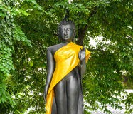 Estátua preta de buddha Imagens de Stock