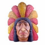 Estátua principal indiana isolada Foto de Stock Royalty Free