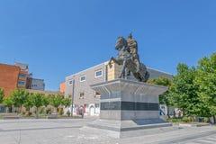 Estátua Pristina de Scanderbeg fotos de stock
