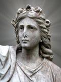 Estátua santamente da mulher fotos de stock