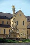 Estátua santamente da trindade, Veszprem, Hungria imagens de stock