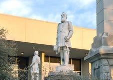 Estátua Stonewall geral Jackson, o memorial de guerra confederado em Dallas, Texas fotografia de stock