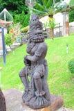 Estátua tailandesa da literatura do macaco Fotos de Stock