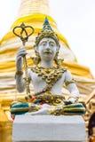 Estátua tailandesa dos anjos no templo Imagem de Stock