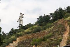 Estátua Tbilisi da mãe da pátria fotografia de stock