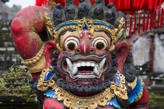 Estátua tradicional do deus do Balinese no templo indonésia Imagens de Stock Royalty Free