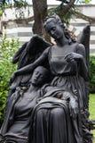 Estátua velha do cemitério Foto de Stock