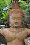 Estátua velha do deva imagens de stock