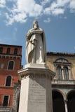 Estátua Verona de Dante Foto de Stock Royalty Free
