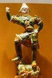 estátua vitrificada Tri colorida de Tang Dynasty foto de stock