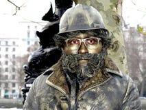 Estátua viva - homem de cobre Imagens de Stock Royalty Free