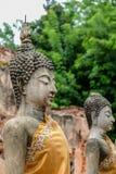 Estátuas antigas da Buda em Vihara da Buda de reclinação, Wat Phutthaisawan, subdistrict de Sampao Lom, Phra Nakorn Sri Ayutthaya imagens de stock royalty free
