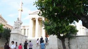 Estátuas clássicas de Plato e de Socrates filme