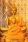 Estátuas da Buda do ouro Fotografia de Stock Royalty Free