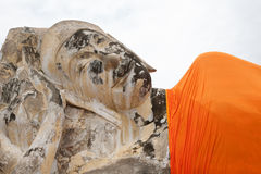 Estátuas da Buda em Ayutaya Foto de Stock Royalty Free