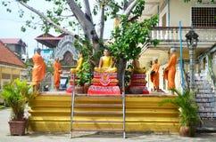 Estátuas da Buda em Phnom Penh Camboja fotografia de stock royalty free