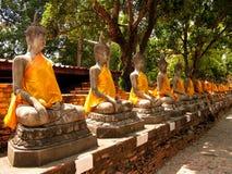 Estátuas da Buda em seguido imagens de stock