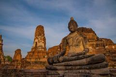 Estátuas da Buda em Wat Mahatat, Ayutthaya, Tailândia Foto de Stock Royalty Free