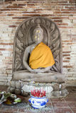 Estátuas da Buda no túnel do templo Imagem de Stock