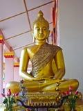 Estátuas da Buda nos templos fotos de stock royalty free