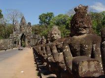 Estátuas da face em Angor Wat Fotografia de Stock Royalty Free