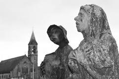 Estátuas da fome em Dublin, Irlanda foto de stock