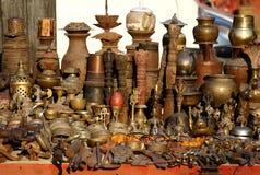 Estátuas de bronze e de cobre nepalesas Fotos de Stock