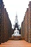 Estátuas de Buddha no templo Foto de Stock Royalty Free