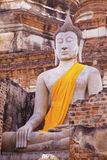 Estátuas de Buddha no templo Foto de Stock