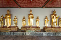 Estátuas de Buddha no templo de Wat Pho Foto de Stock