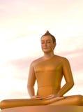 Estátuas de Buddha no templo em Tailândia Foto de Stock