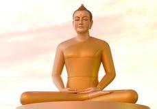 Estátuas de Buddha no templo em Tailândia Fotos de Stock