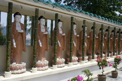 Estátuas de Buddha, Penang, Malaysia foto de stock